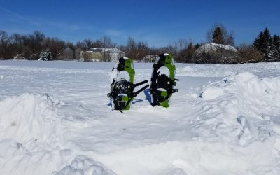 North Dakota Snowshoeing Freedom